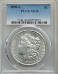 Morgan Dollars: , 1896-S $1 XF45 PCGS. PCGS Population: (282/2092). NGC Census: (181/1069). CDN: $335 Whsle. Bid for problem-free NGC/PCGS XF...