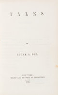 Books:Mystery & Detective Fiction, Edgar A[llan]. Poe. Tales. New York: Wiley & Putnam, 1845. First edition, first printing, with the copyright notice ...