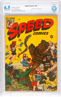 Speed Comics #37 (Harvey, 1945) CBCS FN+ 6.5 Cream to off-white pages