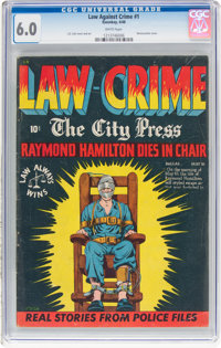Law Against Crime #1 (Essenkay Publishing, 1948) CGC FN 6.0 White pages