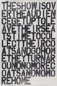 Christopher Wool X After Felix Gonzalez-Torres Untitled, poster, n.d. Offset lithograph on paper