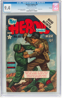 Heroic Comics #81 File Copy (Eastern Color, 1953) CGC NM 9.4 Cream to off-white pages