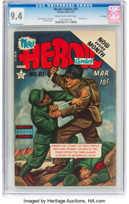 Heroic Comics #81 File Copy (Eastern Color, 1953) CGC NM 9.4 Cream to off-white pages....