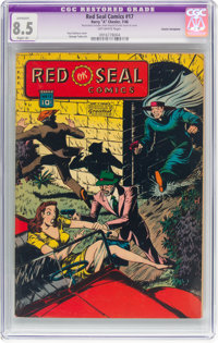 Red Seal Comics #17 Cosmic Aeroplane pedigree (Chesler, 1946) CGC Apparent VF+ 8.5 Slight (A) Off-white pages