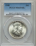 Franklin Half Dollars, 1948 50C MS65 Full Bell Lines PCGS. PCGS Population: (2966/526). NGC Census: (1098/144). CDN: $130 Whsle. Bid for problem-f...