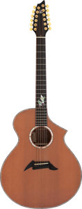 Musical Instruments:Acoustic Guitars, 1997 Breedlove MJ12/W Natural 12 String Acoustic Guitar, Serial # 97-214....
