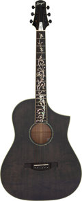 Musical Instruments:Acoustic Guitars, Modern Bourgeois Martin Simpson Signature Black-Stain AcousticElectric Guitar, Serial # 000773....