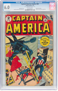 Captain America Comics #60 (Timely, 1947) CGC FN 6.0 Off-white pages