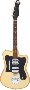 Musical Instruments:Electric Guitars, Circa 1960's Noble Deluxe Grand Gold Sparkle Solid Body ElectricGuitar, Serial # 827....