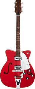 Musical Instruments:Electric Guitars, 1967 Martin GT-75 Red Semi-Hollow Body Electric Guitar, Serial # 218537....