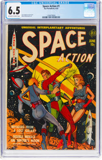 Space Action #1 (Ace, 1952) CGC FN+ 6.5 Off-white to white pages