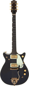 Musical Instruments:Electric Guitars, 1962 Gretsch 6128 Duo Jet Black Solid Body Electric Guitar, Serial# 43656.. ...