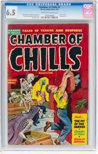 Chamber of Chills #7 (Harvey, 1952) CGC FN+ 6.5 Off-white to white pages