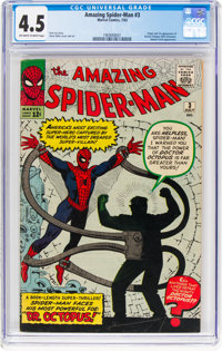 The Amazing Spider-Man #3 (Marvel, 1963) CGC VG+ 4.5 Off-white to white pages
