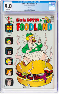 Little Lotta Foodland #9 File Copy (Harvey, 1965) CGC VF/NM 9.0 Off-white pages
