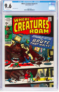 Bronze Age (1970-1979):Horror, Where Creatures Roam #1 (Marvel, 1970) CGC NM+ 9.6 White pages....