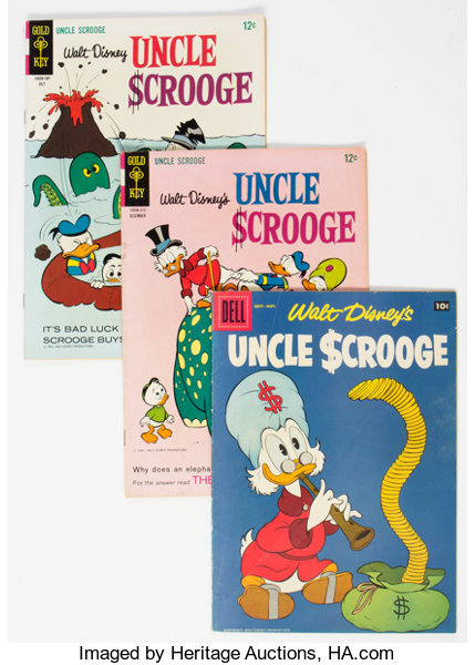 Uncle Scrooge Group of 4 (Dell, 1956-67) Condition: | Lot