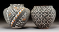 American Indian Art:Pottery, Two Acoma Polychrome Jars . C. Garcia and B. D. Garcia... (Total: 2Items)