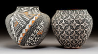 Two Acoma Polychrome Jars C. Garcia and B. D. Garcia... (Total: 2 Items)