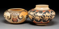 American Indian Art:Pottery, Two Hopi Polychrome Jars. Nellie Nampeyo and Clinton Polacca Nampeyo ... (Total: 2 Items)