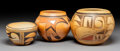 American Indian Art:Pottery, Three Hopi Polychrome Vessels  ...