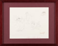 """Books, Maurice Sendak. """"A Very Classy Movie."""" 1974. Original pencil drawing, a study for the Really Rosie animation project..."""