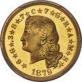 Proof Four Dollar Gold Pieces, 1879 $4 Flowing Hair, Judd-1635, Pollock-1833, JD-1, R.3, PR66Cameo PCGS....