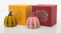 Collectible:Contemporary, Yayoi Kusama X MoMa. Red and Yellow Pumpkin (two works), n.d.. Painted cast resin. 4 x 3-1/4 x 3-1/4 inches (10.2 x 8.3 ... (Total: 2 Items)