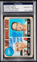 Autographs:Sports Cards, Signed 1968 Topps Johnny Bench Rookie #247 PSA/DNA Gem MT 10....