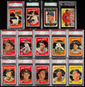 Baseball Cards:Lots, 1959 Topps New York Yankees Graded Collection (14)....