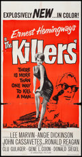 "Movie Posters:Crime, The Killers (Universal, 1964) Folded, Fine+. Three Sheet (41"" X 79""). Crime...."