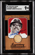 Baseball Cards:Singles (1970-Now), 2001 Upper Deck Legends Legendary Lumber Reggie Jackson AutographBat Relic Card #SL-RJ SGC Mint 9....
