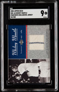 Baseball Cards:Singles (1970-Now), 2001 Upper Deck Pinstripes Exclusive Mickey Mantle Jersey RelicCard #MM-J4 SGC Mint 9....