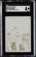 Baseball Cards:Singles (1970-Now), 2000 Topps Gallery Greg Maddux Black Printing Plate #84 SGCAuthentic - 1/1....