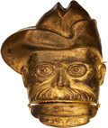 Political:Pinback Buttons (1896-present), Theodore Roosevelt: Mechanical Rough Rider Badge....