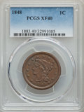 Large Cents, 1848 1C XF40 PCGS. PCGS Population: (55/538). NGC Census: (26/390). CDN: $75 Whsle. Bid for problem-free NGC/PCGS XF40. Min...