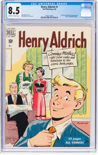 Henry Aldrich Comics #1 (Dell, 1950) CGC VF+ 8.5 Off-white to white pages