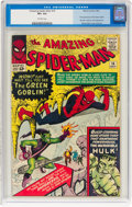 Silver Age (1956-1969):Superhero, The Amazing Spider-Man #14 (Marvel, 1964) CGC VF+ 8.5 Off-whitepages....