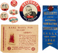 Political:Pinback Buttons (1896-present), Browder & Ford: Communist Party Jugates and Badges....