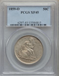 Seated Half Dollars: , 1859-O 50C XF45 PCGS. PCGS Population: (87/231). NGC Census: (34/145). CDN: $170 Whsle. Bid for problem-free NGC/PCGS XF45....