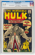Silver Age (1956-1969):Superhero, The Incredible Hulk #1 (Marvel, 1962) CGC GD/VG 3.0 Off-white to white pages....