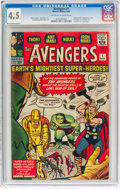Silver Age (1956-1969):Superhero, The Avengers #1 (Marvel, 1963) CGC VG+ 4.5 Off-white to whitepages....