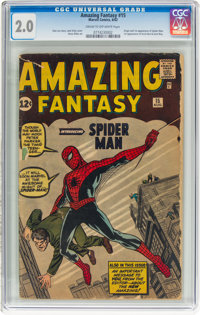 Amazing Fantasy #15 (Marvel, 1962) CGC GD 2.0 Cream to off-white pages
