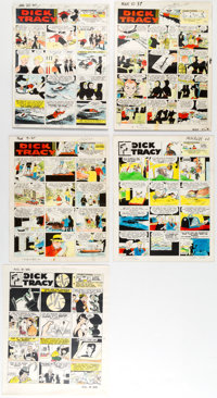 Chester Gould Dick Tracy Color Guides and Production Materials Group Lot (Chicago Tribune, c. 1950s-60s)