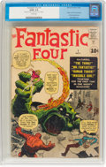 Silver Age (1956-1969):Superhero, Fantastic Four #1 (Marvel, 1961) CGC GD/VG 3.0 Cream pages....