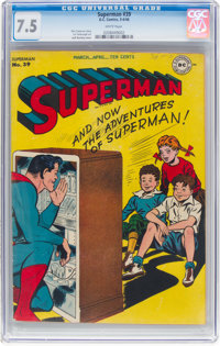 Superman #39 (DC, 1946) CGC VF- 7.5 White pages