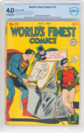 Golden Age (1938-1955):Superhero, World's Finest Comics #23 (DC, 1946) CBCS VG 4.0 Off-white to white pages....