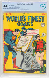World's Finest Comics #23 (DC, 1946) CBCS VG 4.0 Off-white to white pages