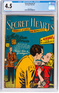 Secret Hearts #7 (DC, 1952) CGC VG+ 4.5 Cream to off-white pages