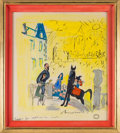 Books:Children's Books, Ludwig Bemelmans. Madeline in London: A Little Sunshine, ALittle Rain. 1961. Ink and gouache watercolor on paperboa...